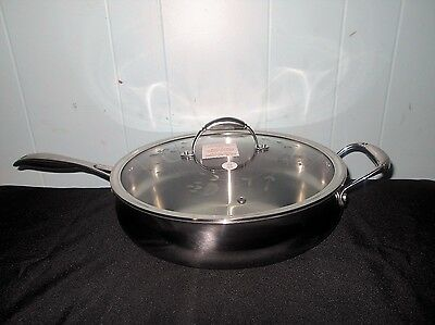 """Princess House Heritage Tri-Ply Stainless Steel 13"""" Saute Pan~NEW IN BOX"""