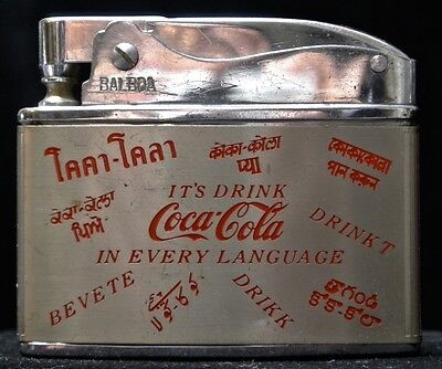 "Vintage COCA-COLA ""It's Drink in Every Language"" Wellington Balboa Lighter"