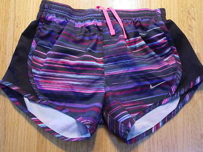 Nike Dri Fit Girls Athletic Shorts W/liner   Size S