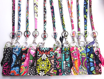 Vera Bradley Zip ID Case and Lanyard Set NWT (Multi Pattern)