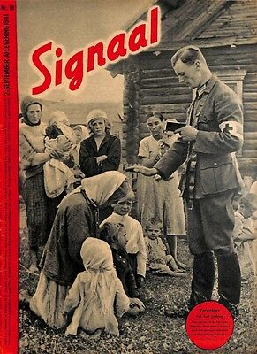 D1080	-No.	H	18-1941	SIGNAAL / SIGNAL Holland Dutch - illustrated german magazin