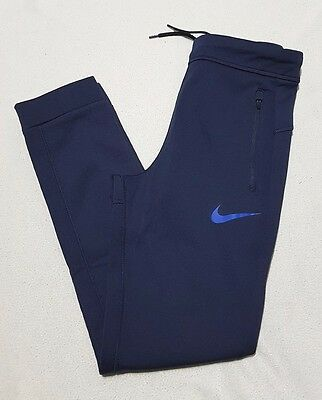 Nike Junior Boy's Therma Sphere Tapered Track Pants Joggers Blue - L - Rrp £50