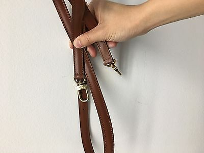 Authentic Louis Vuitton Leather Brown Crossbody Shoulder Strap Adjustable 43-51