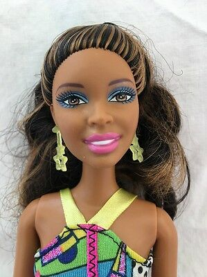 Articulated African American BARBIE Doll Dress Earrings NIKKI Fashionista