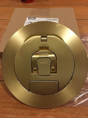 "HUBBELL S1R4CVRBRS  4"" Round Floor Box Cover Brass Finish *NEW*"