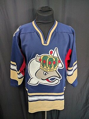 Men's Large Victoria Salmon Kings Jersey by SP ECHL Sz S Blue