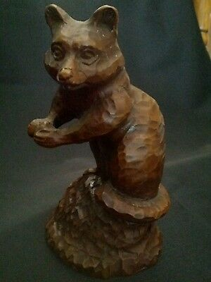 Vintage RED MILL Standing Racoon animal figurine