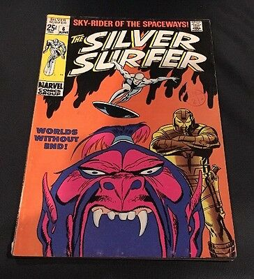 MARVEL Comics -SILVER SURFER vol 1-issue 6 Cents Comic.VG