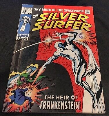 MARVEL Comics -SILVER SURFER vol 1-issue 7 Cents Comic. FN