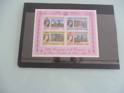 Grenadines of st vincent 1978 25th anniversary Queens Coronation  mnh m/s