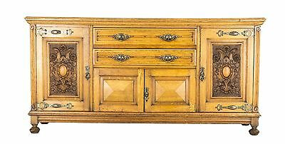 B582 Beautiful Antique Scottish Carved Oak Art Nouveau Sideboard