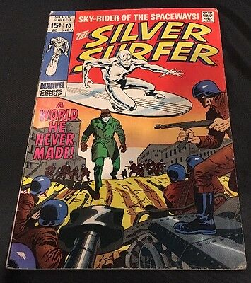 MARVEL Comics -SILVER SURFER vol 1-issue 10 Cents Comic.VG