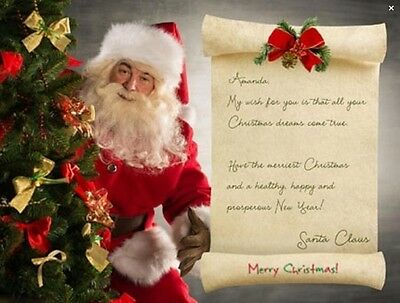 Personalized Letter From Santa Claus -  unique gifts for the holidays