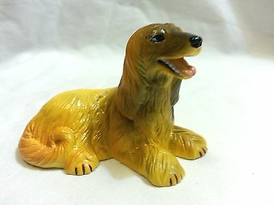 Afghan Hound• FREE SHIP • New Ray Dog Breed Figurine • Soft Rubber • Realistic