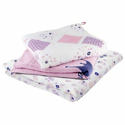 Babymoov Pack of 3 x Muslin Baby / Child Blanket Set - Mademoiselle