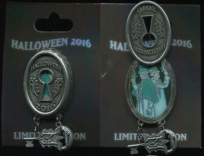 Halloween 2016 Haunted Mansion Lock and Key Dueling Ghosts LE Disney Pin 118514