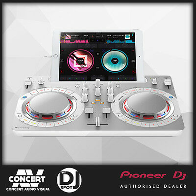 Pioneer DDJWEGO4 2 channel DJ Controller for iPad / PC or Mac - WHITE WEGO4W