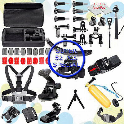 52in1 Head Chest Mount Floating Monopod Accessories For GoPro 2 3 4 5 Camera New