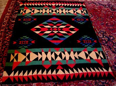 "Rare Old Antique Early Trade Blanket Racine Pendleton Beautiful 51""x71"" 2 Sideed"