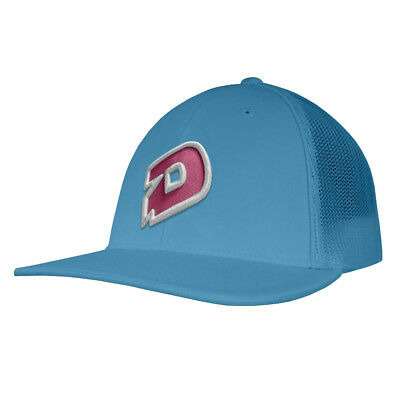 DeMarini D Logo Pro LID Baseball/Softball Trucker Hat - Columbia/Pink - L/XL