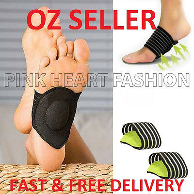 Foot Heel Pain Relief Plantar Insole Pads Arch Support Shoes Insert - On Sale