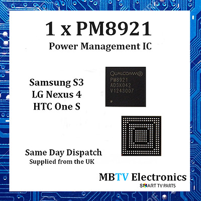 1 x PM8921 - SAMSUNG S3 i9300 T999 POWER MANAGEMENT IC CHIP - DEAD NOT CHARGING