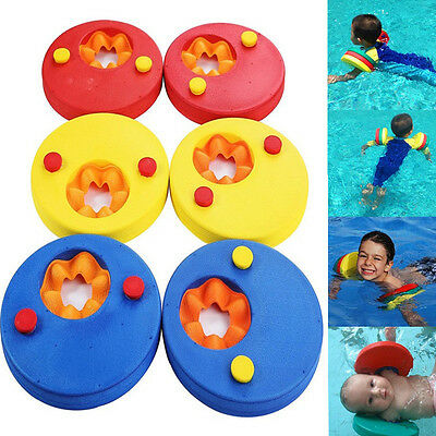 2x Swim Discs Foam Arm Bands Armbands Float Learn for swimming baby kid children
