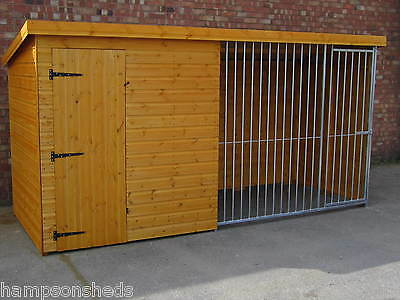dog kennel and run with galvanised run panel please ask for delivery cost