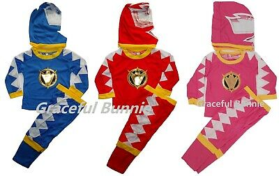 New Power Rangers Kids Costume Dress up Cosplay 2-7 yrs