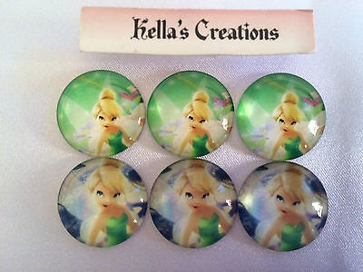 Tinkerbell Cabochon Flatbacks x 6 size 20mm - Craft - Hair bow