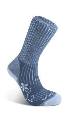 Bridgedale Womens Trekker Merino Midweight Hiking Socks - Blue