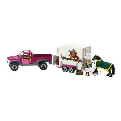 schleich horse club pick up mit pferdeanh nger auto pferde anh nger spielzubeh r eur 49 99. Black Bedroom Furniture Sets. Home Design Ideas