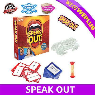Speak Out  Mouth Board Game Hasbro Mouthpiece Funny Family Party Toy Xmas Gift