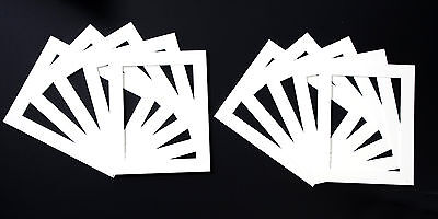 Pack of 10 black, white or cream Picture Mounts