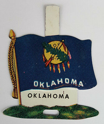 1959 Tin Litho Nabisco Shredded Wheat State Flag for Oklahoma