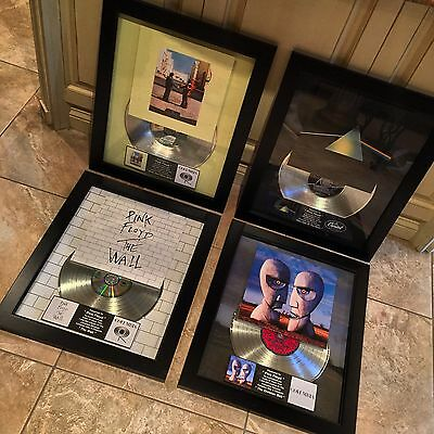4 RARE Pink Floyd Album Platinum Record Disc Album Music Award RIAA Grammy