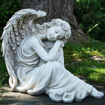 Concrete Mold Sitting Angel Latex rubber / fiberglass