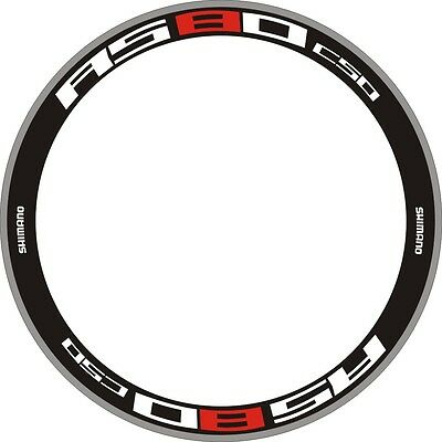 C50 Carbon Wheel Rim Decals Stickers Replacement For Road Bike Bicycle 2 Rims