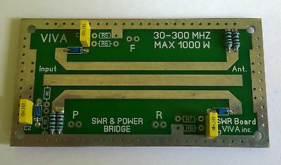 RF SWR Power meter bridge board HF VHF - 30-300 Mhz up to 1000W LDMOS TUBE