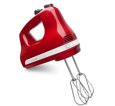 KitchenAid Ultra Power 5-Speed Hand Mixer Stainless Steel Beaters Easy Clean New