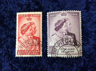 Pitcairn Is. George VI 1948 Royal Silver Wedding Pair - SG11/12 Very Fine Used.