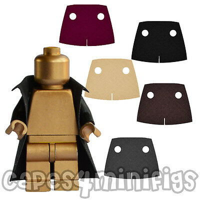 3 CUSTOM polycotton Trench coat / capes for your Lego minifig. NO MINIFIGURE
