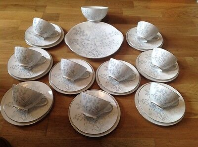 REDUCED Tuscan Woodside Pattern 29 Piece Tea Set 1960s