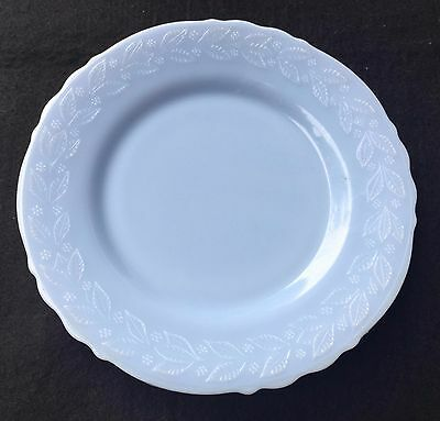 "Htf Vintage Mckee Delphite Blue Milk Glass Laurel 9"" Dinner Plate - No Chips -"