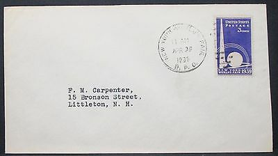 New York World's Fair Envelope Opening Day Cancel 1939 3c USA Brief (Y-570