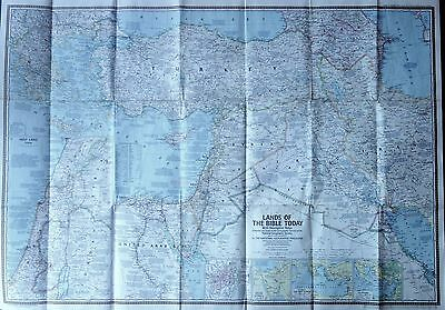 Israel National Geographic Lands Of Bible Today Map
