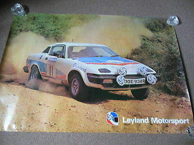"NOS British Leyland Triumph TR7 Motorsports UK Dealer Poster 46"" by 27"""