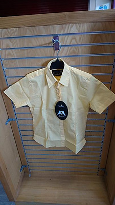 Sherwood Forest Womens Disoni Show Shirt Short Sleeve Competition Canary Size 8