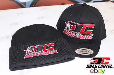 Drag Cartel Snapback Hat and Beanie Set - Black