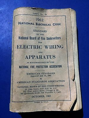 National Electrical Code 1962 Vintage Book   National Board of Fire Underwriters